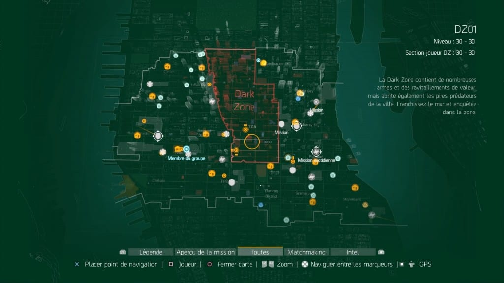 Tom Clancy's The Division Full map une sacrée carte non ?