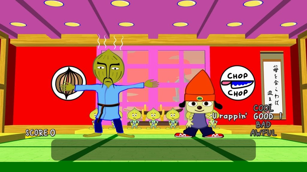 PaRappa The Rapper Remastered Master onion