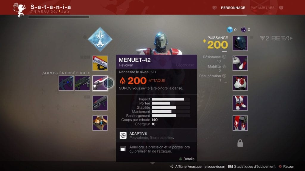 Destiny 2 Les armes secondaires