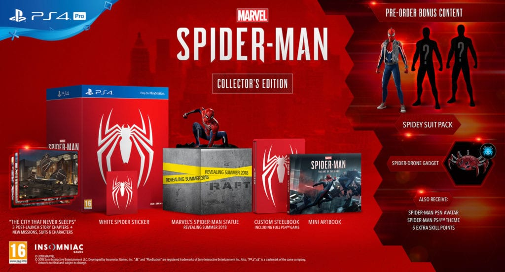 Spider-man Collector PS4