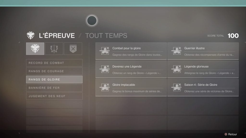 Destiny 2 forsaken renegats test PS4 Triomphe