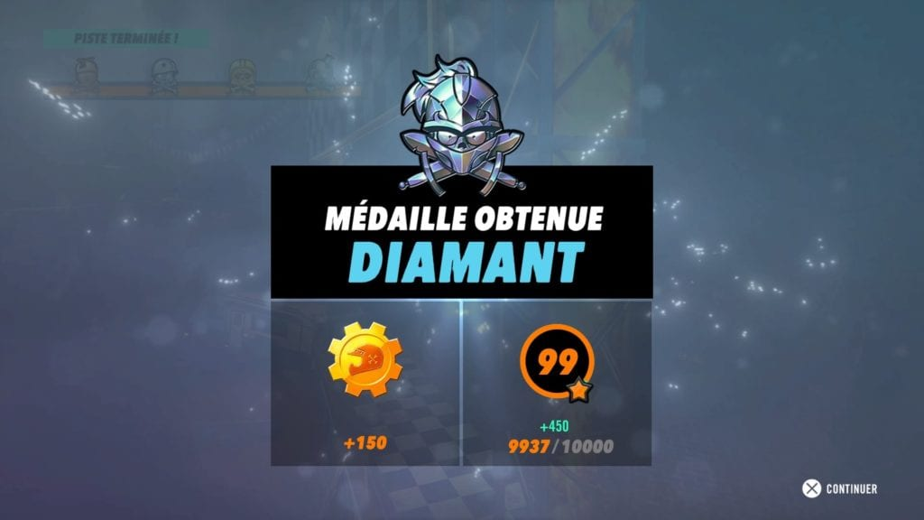 Trials Rising médaille diamant